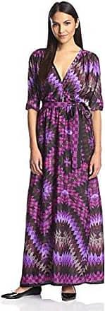 Melissa Masse Womens Printed Wrap Dress