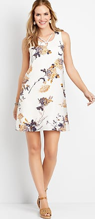 Maurices Floral Lattice Neck Shift Dress