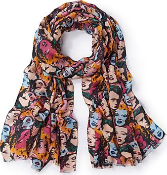 Peter Hahn Woven scarf original pop art style pattern Peter Hahn multicoloured