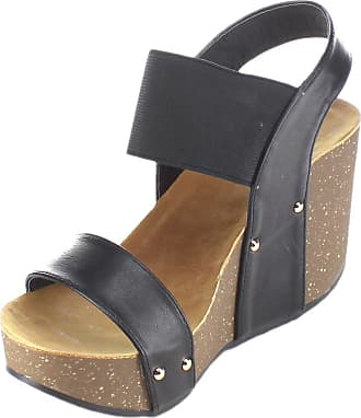 Refresh womens Wedges Black Size: 5.5