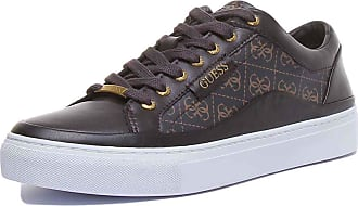 Guess Mens Fm5Larfal12 Larry Lace Up Cupsole 4g Logo Brown Size: 10 UK
