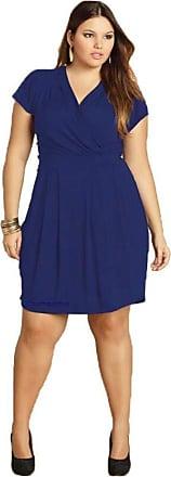 Quintess Vestido Soltinho Azul Moderno Plus Size