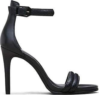 Kenneth Cole Womens Brooke Leather Open Toe Formal, Black 1, Size 5.5 U US