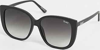 Quay Ever After - Schwarze Cat-Eye-Sonnenbrille im Oversize-Stil