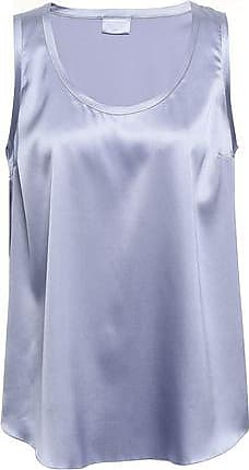 Brunello Cucinelli Brunello Cucinelli Woman Stretch-silk Satin Tank Sky Blue Size XS