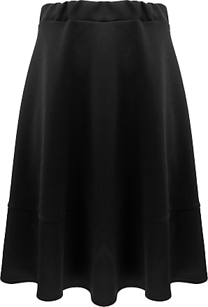 The Celebrity Fashion Womens Basic Solid Versatile Stretchy Flared Casual Mini Skater Skirt