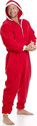 Camille Mens Plain Hooded Onesies XXXXXL Red Santa