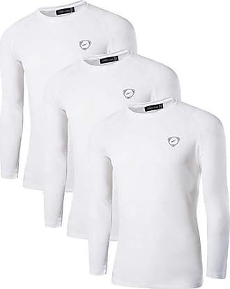 Jeansian Mens 3 Packs UPF 50+ UV Sun Protection Outdoor T-Shirt LA245 PackB XL
