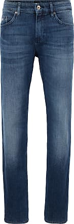 BOSS Slim-fit jeans in mid-wash denim