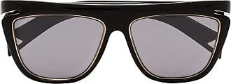 Fendi Óculos de sol com detalhe contrastante - Preto