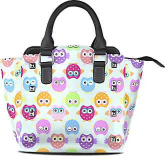 NaiiaN Shoulder Bags Tote Bag for Women Girls Ladies Student Chiefs Purse Shopping Leather Colorful Cartoon Owls Light Weight Strap Handbags