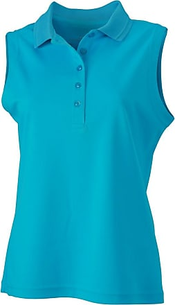 2Store24 Ladies Active Polo Sleeveless in Turquoise Size: M