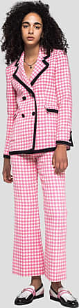 Msgm houndstooth print double-breasted jacket