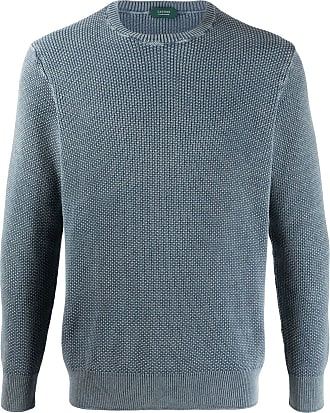 Zanone crew-neck knit jumper - Grey
