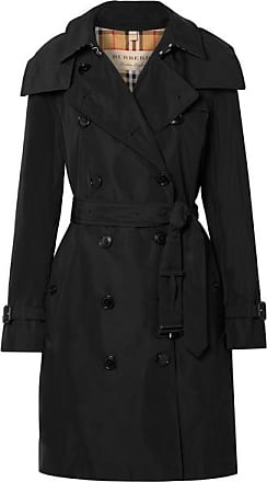 Burberry Trench-coat En Tissu Technique À Finitions En Cuir The Kensington  - Noir 91aa94a3fca