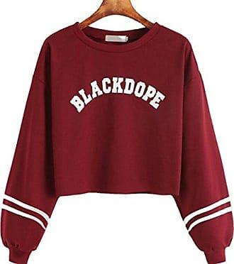 Amlaiworld Sweatshirts Herbst Frauen Roter Lippen drucken pullis Damen cool Tr?gerlos Sweatshirt Sport lose Bluse Mode Pullover Freizeit Tops