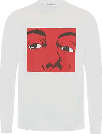 J.W.Anderson Camiseta mangas longas com estampa gráfica - Branco