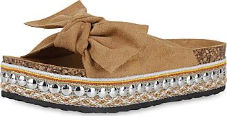 Scarpe Vita Women High-Heeled Sandals Mules Ribbons Rivets 191120 Light Brown UK 5 EU 38