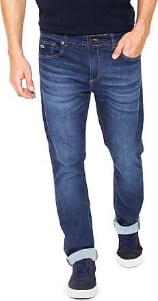 Lacoste Calça Jeans Lacoste Reta Azul