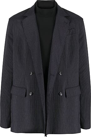 Opening Ceremony 2 in 1 double-breasted pinstriped blazer - Blue