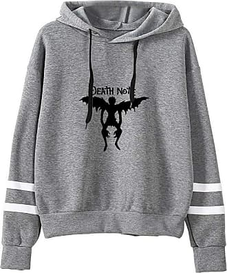 Haililais Death Note Pullover Pullover Sweatshirt Fashion Sweater Outerwear Adult Casual Sports Warm Wild Long Sleeve Men and Women Unisex (Color : Gray08, Size