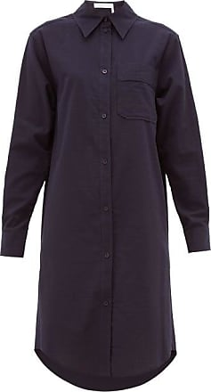 See By Chloé Striped Cotton Shirt Dress - Womens - Dark Navy