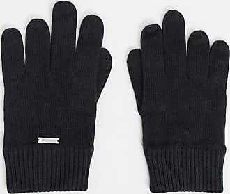 Calvin Klein basic knitted gloves-Black