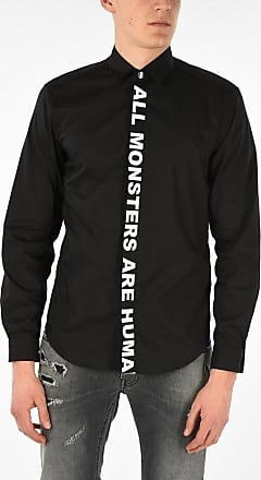 Just Cavalli Hidden Closure Shirt with Print size 46