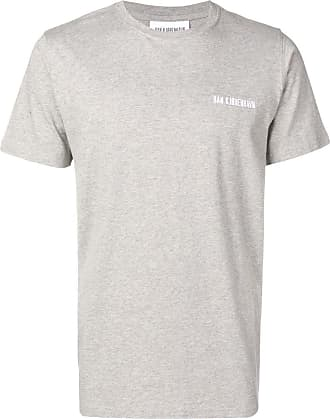 Han Kjobenhavn Camiseta decote careca com logo bordado - Cinza