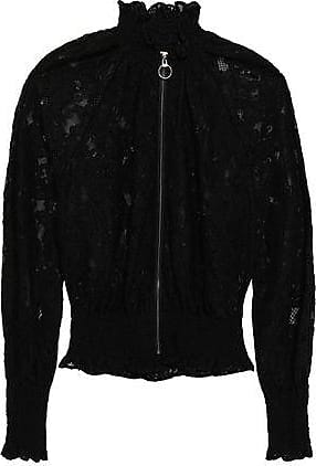 Rebecca Taylor Rebecca Taylor Woman Corded Lace Bomber Jacket Black Size 10