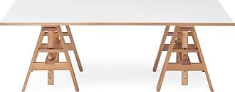 ZANOTTA Design Leonardo Writing Desk Beech & White Laminate