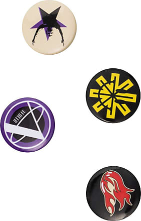 Raf Simons Kit com 4 bottons - Preto
