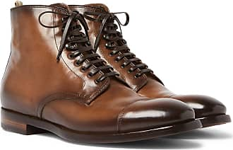 Officine Creative Emory Cap-toe Leather Boots - Brown