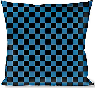 Buckle Down Pillow Decorative Throw Checker Black Turquoise
