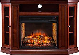 Southern Enterprises AZ6139IF Corner Media Infrared Fireplace, Brown Mahogany Finish