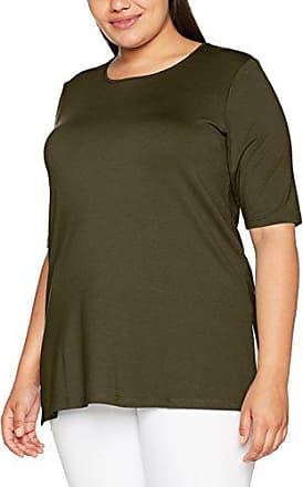 ULLA POPKEN Basic-Shirt Slim Rundhalsausschnitt Baumwolle Maglia a Maniche Lunghe Donna