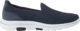 Skechers Go Walk 29, Tênis Slip-On, Feminino, Azul (Blue/White), 34