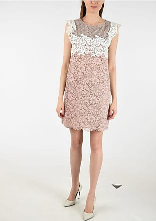 FAUSTO PUGLISI Lace Pencil Dress with Jewel Details size 42