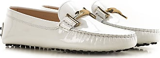 Tod's Mocassini Uomo On Sale, Bianco, Pelle di Vernice, 2019, 36 36.5 37 38 39