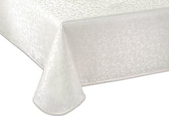 Lenox Opal Innocence 60x84 Oblong Tablecloth, White