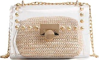 YYW womens Clear Handbag Purse khaki Size: One size