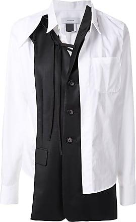 Facetasm Camisa com recorte contrastante - Branco