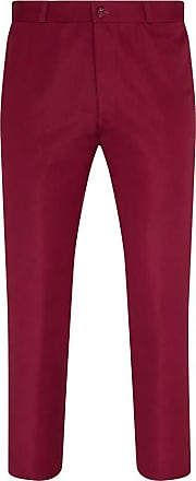 Relco Mens Sta-Press Mod Trousers Burgundy 32