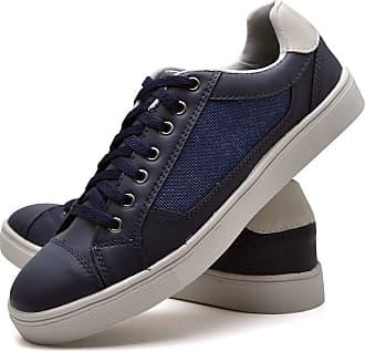 Juilli Sapatênis Sapato Casual Masculino Com Cadarço JUILLI 04DB Tamanho:44;cor:Azul;gênero:Masculino