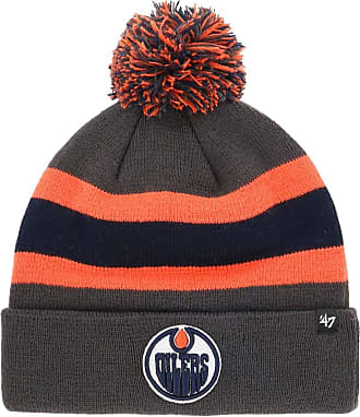 47 Brand NHL Edmonton Oilers Breakaway 47 Cuff Knit Beanie Grey Orange
