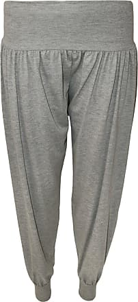 WearAll Ladies Harem Pants Womens Leggings Hareem Trousers - Light Grey - 12-14