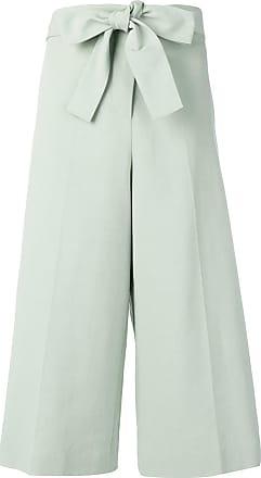 Fabiana Filippi tie waist cropped trousers - Green