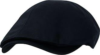 Ililily New Mens Cotton Flat Cap Cabbie Hat Gatsby Ivy Caps Irish Hunting Hats Newsboy with Stretch fit (flatcap-004) (X-Large (7 5/8), XL-Black)