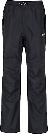 Regatta Great Outdoors Mens Chandler III Showerproof Overtrousers (Regular Leg) (XXL) (Black)