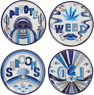 Jonathan Adler Druggist Coaster Set - Multi Blue